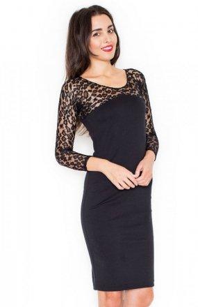 Katrus K322 sukienka czarna