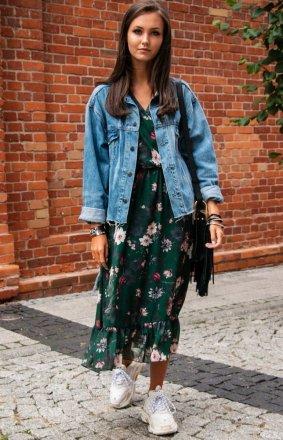 Sukienka midi w kwiaty 0241/D56