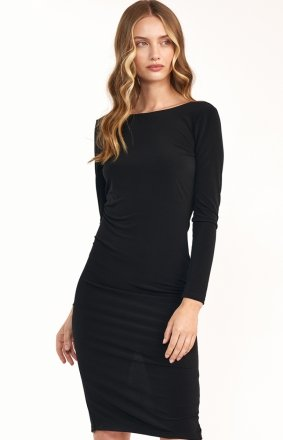 Elegancka czarna ołówkowa sukienka