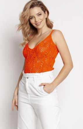 MKM SWE232 top sweterkowy pomarańczowy