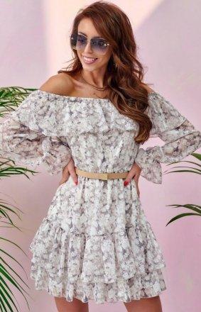 Kwiatowa sukienka hiszpanka 0332/U55