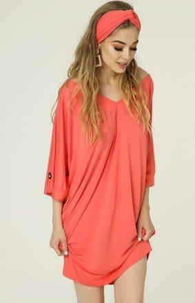 Oversizowa sukienka Nelly koralowa MAD482