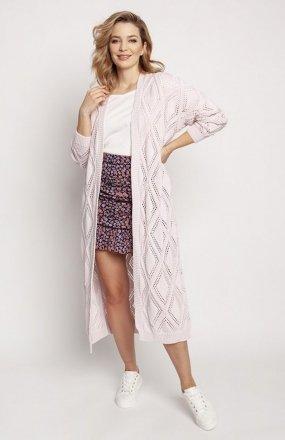 MKM PA012 swetrowy płaszczyk różowy