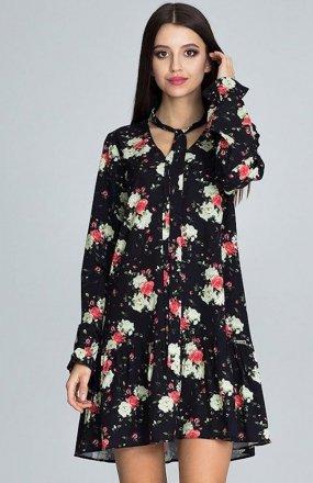 Figl M599 Wzór 75 sukienka w kwiaty