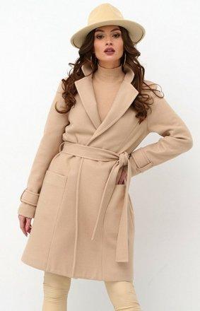Wiązany płaszcz damski 0019