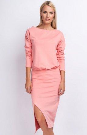 Nommo NA177 sukienka brzoskwiniowa