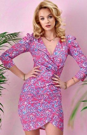 Ołówkowa sukienka w kwiaty 0329/S98