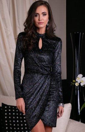 Błyszcząca wieczorowa sukienka 264/F4