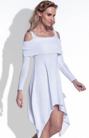 *FIMFI I172 sukienka biała