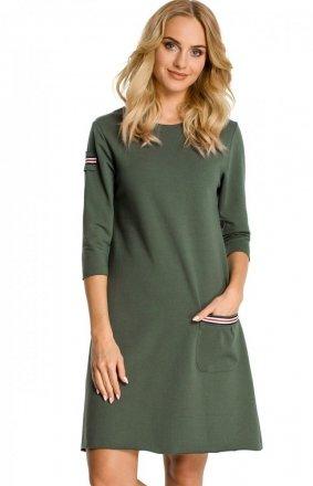 Moe M343 sukienka zielona