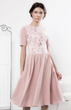 Kasia Miciak design pudrowa sukienka
