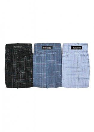 Henderson Slipy Henderson 1446 Czarne-jeans-niebieskie (zestaw 3 sztuk)