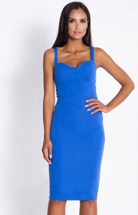 Seksowna dopasowana sukienka Rocco niebieska