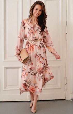Kwiecista sukienka midi Roco 0284/R24