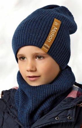 AJS 42-549 czapka i komin chłopięcy