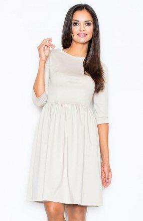 *Figl 117 sukienka beżowa