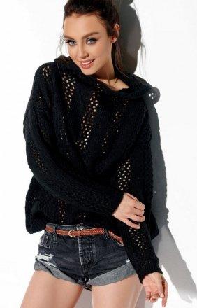Ażurowy sweterek z kapturem LS283