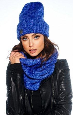 Zimowy komplet czapka i szalik chabrowy LC119