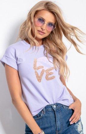 T-shirt damski z sercem K583