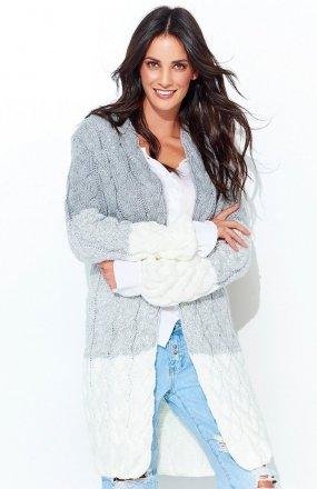 Numinou S37 sweter ecru-szary