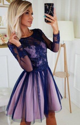 Rozkloszowana sukienka z błyskiem 2194-11