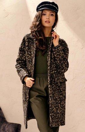 Elegancki płaszcz damski z wełną 0023