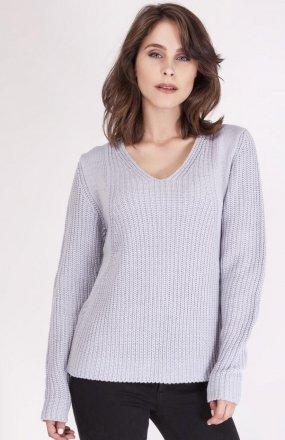 MKMSwetry Sweter Victoria SWE 123 Jasny szary