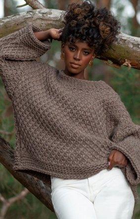 Ciepły sweter damski Chunky F1262