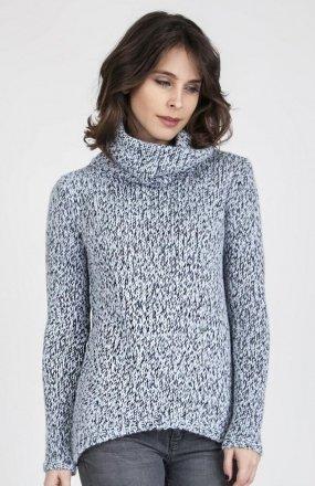 MKMSwetry Sweter Nicola SWE 103 Niebieski