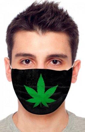 Maseczka ochronna marihuana