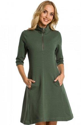 Moe M349 sukienka zielona
