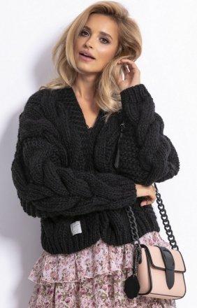 *Bomber jacket sweter czarny F800