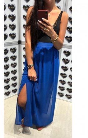 *Długa spódnica z tiulem kobaltowa