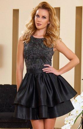 *Roco 0173 sukienka szaro-czarna