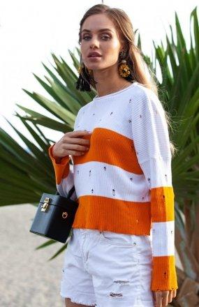 FIMFI I296 sweter pomarańczowy