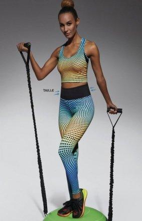 Bas Bleu Wave 90 legginsy wzorzyste