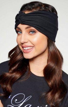 Modna opaska turban czarna LC124
