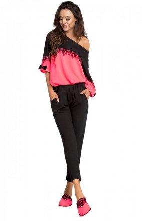 Różowa dwuczęściowa piżama P-637/2