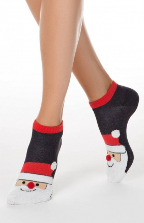 Skarpety damskie stopki mikołajki
