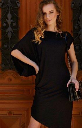 Asymetryczna sukienka czarna L10