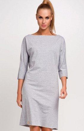 *Makadamia M236 sukienka szara