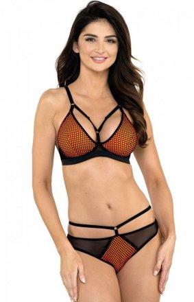 Gorteks Kylie/S stringi czarno-pomarańczowe