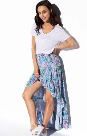 Asymetryczna sukienka z falbaną LG544/D14