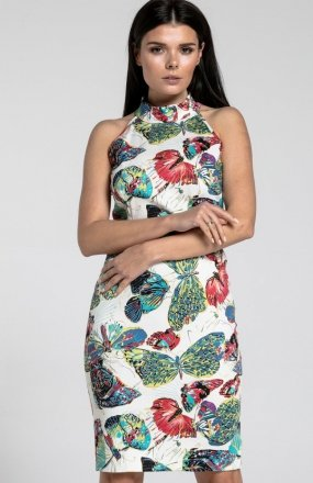 Nommo NA285 sukienka jasne motyle