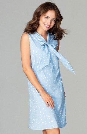 Lenitif K471 sukienka niebieska