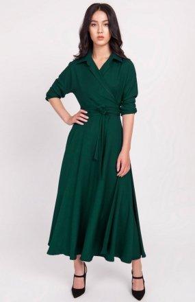 Sukienka długa zielona SUK172