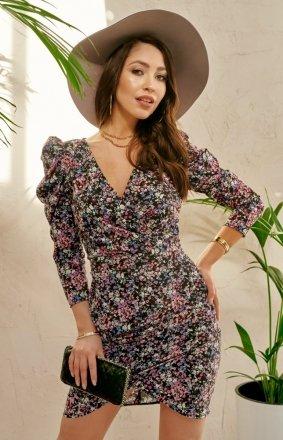 Ołówkowa sukienka w kwiaty 0329/S92