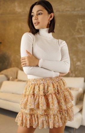 Mini spódniczka w kwiaty 02