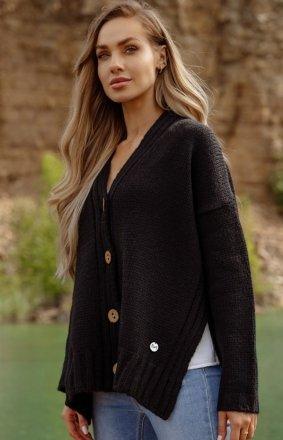 Oversizowy sweter z guzikami LS344