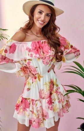 Kwiatowa sukienka hiszpanka 0332/U59